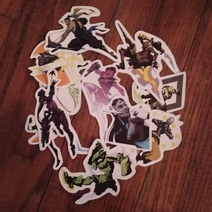 Overreach character stickers